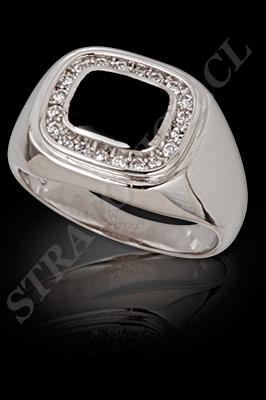 ANILLO para HOMBRE de oro blanco o platino con brillantes, semipreciosas  (El modelo: AH0004). Santiago, Chile, Ñuñoa