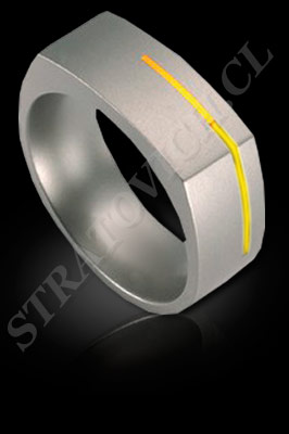 ANILLO para HOMBRE de oro amarillo de 18 kilates, oro blanco o platino (El modelo: AH0016). Santiago, Chile, Ñuñoa