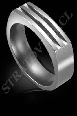 ANILLO para HOMBRE de oro blanco o platino (El modelo: AH0019). Santiago, Chile, Ñuñoa