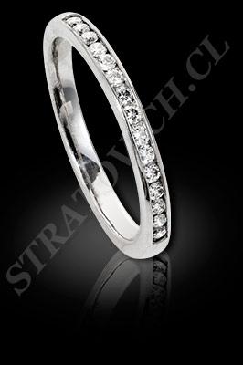 ANILLO para MUJER de oro blanco o platino con brillantes  (El modelo: AF0018). Santiago, Chile, Ñuñoa