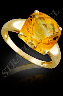 ANILLO para MUJER de oro amarillo de 18 kilates con semipreciosas  (El modelo: AF0053). Santiago, Chile, Ñuñoa