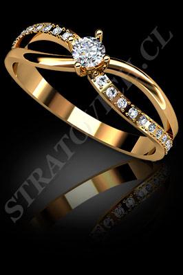 64b2c468ea32 ANILLO para MUJER de oro amarillo de 18 kilates con brillantes (El modelo   AF0062