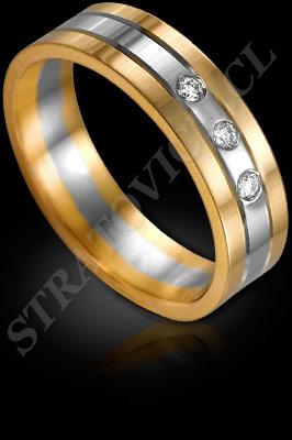 ANILLO para MUJER de oro amarillo de 18 kilates, oro blanco o platino con brillantes  (El modelo: AF0092). Santiago, Chile, Ñuñoa