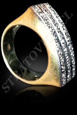 ANILLO para MUJER de oro amarillo de 18 kilates, oro blanco o platino con brillantes  (El modelo: AF0103). Santiago, Chile, Ñuñoa