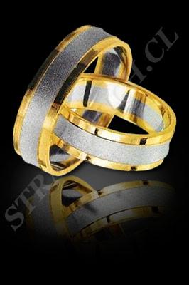 ARGOLLAS de MATRIMONIO de oro amarillo de 18 kilates, oro blanco o platino (El modelo: AM0019). Santiago, Chile, Ñuñoa