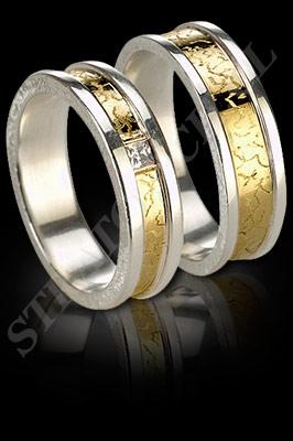 ARGOLLAS de MATRIMONIO de oro amarillo de 18 kilates, oro blanco o platino con brillantes  (El modelo: AM0025). Santiago, Chile, Ñuñoa