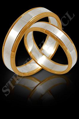 ARGOLLAS de MATRIMONIO de oro amarillo de 18 kilates, oro blanco o platino (El modelo: AM0050). Santiago, Chile, Ñuñoa