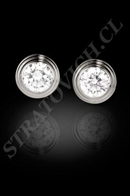 AROS de oro blanco o platino con brillantes  (El modelo: AR0023). Santiago, Chile, Ñuñoa